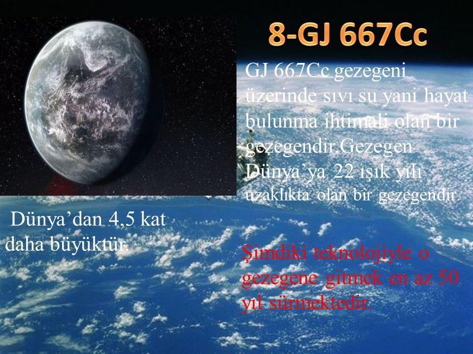 GJ 667Cc gezegeni üzerinde sıvı su yani hayat bulunma ihtimali olan bir gezegendir.Gezegen Dünya'ya 22 ışık yılı uzaklıkta olan bir gezegendir. Dünya'