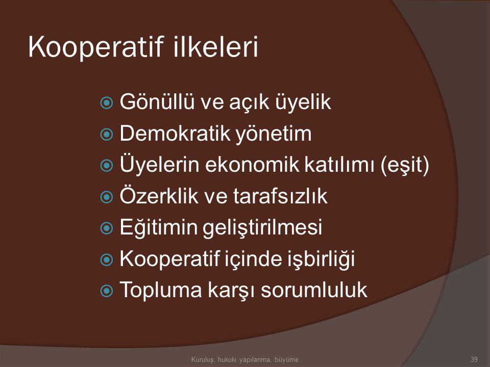 Kooperatif-2  Kurucularının geleneğine göre, kooperatif üyeleri dürüstlük, açıklık, sosyal sorumluluk ve diğerlerini önemseme gibi etik değerlere sah