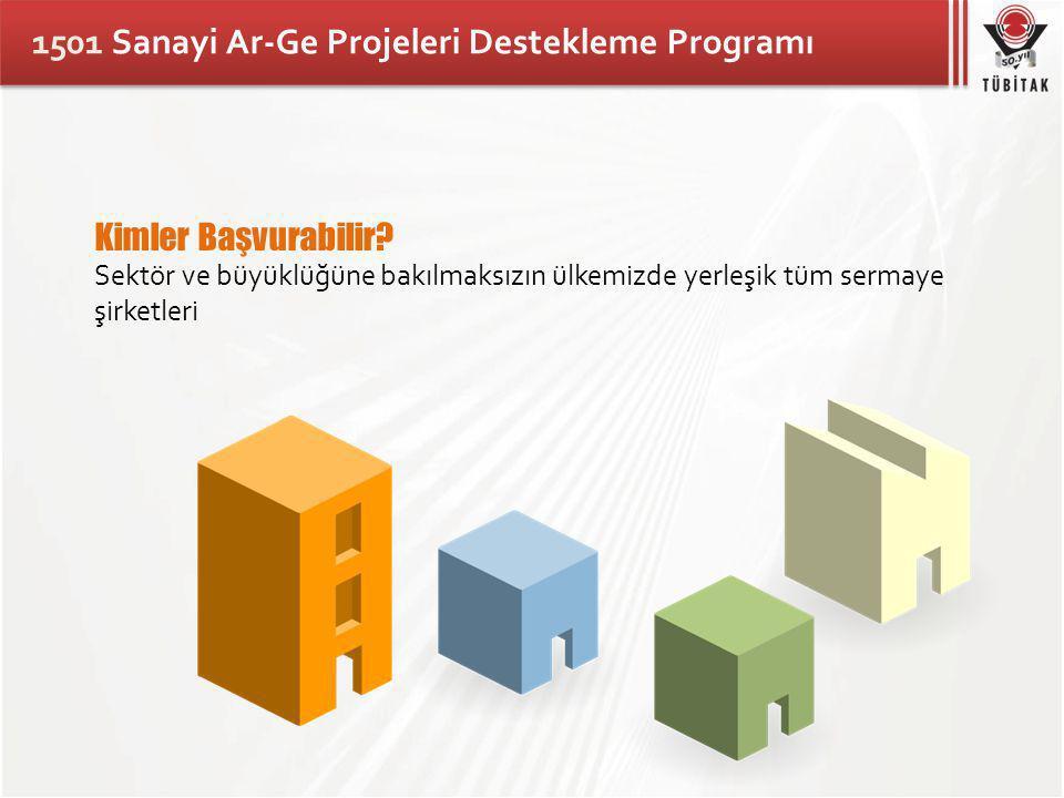 1501 Sanayi Ar-Ge Projeleri Destekleme Programı Kimler Başvurabilir.