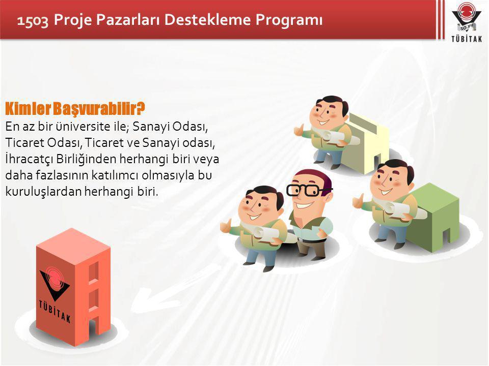 1503 Proje Pazarları Destekleme Programı Kimler Başvurabilir.