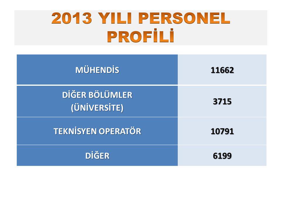 MÜHENDİS11662 DİĞER BÖLÜMLER (ÜNİVERSİTE) 3715 TEKNİSYEN OPERATÖR 10791 DİĞER6199