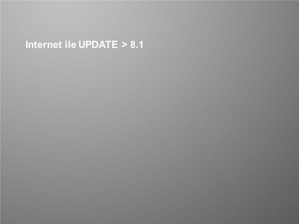 Internet ile UPDATE > 8.1