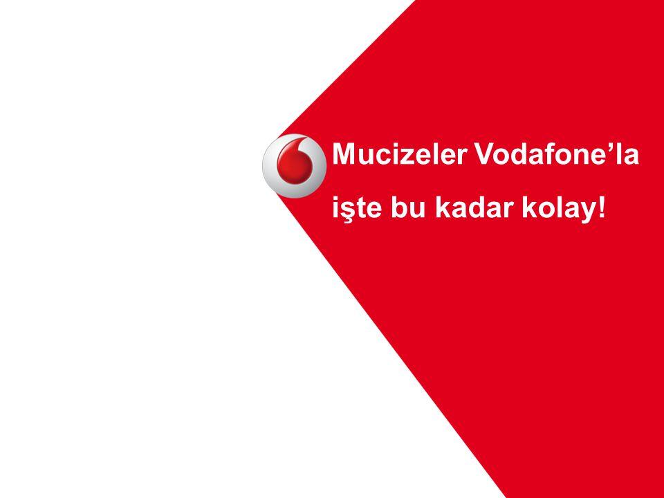 Mucizeler Vodafone'la işte bu kadar kolay!