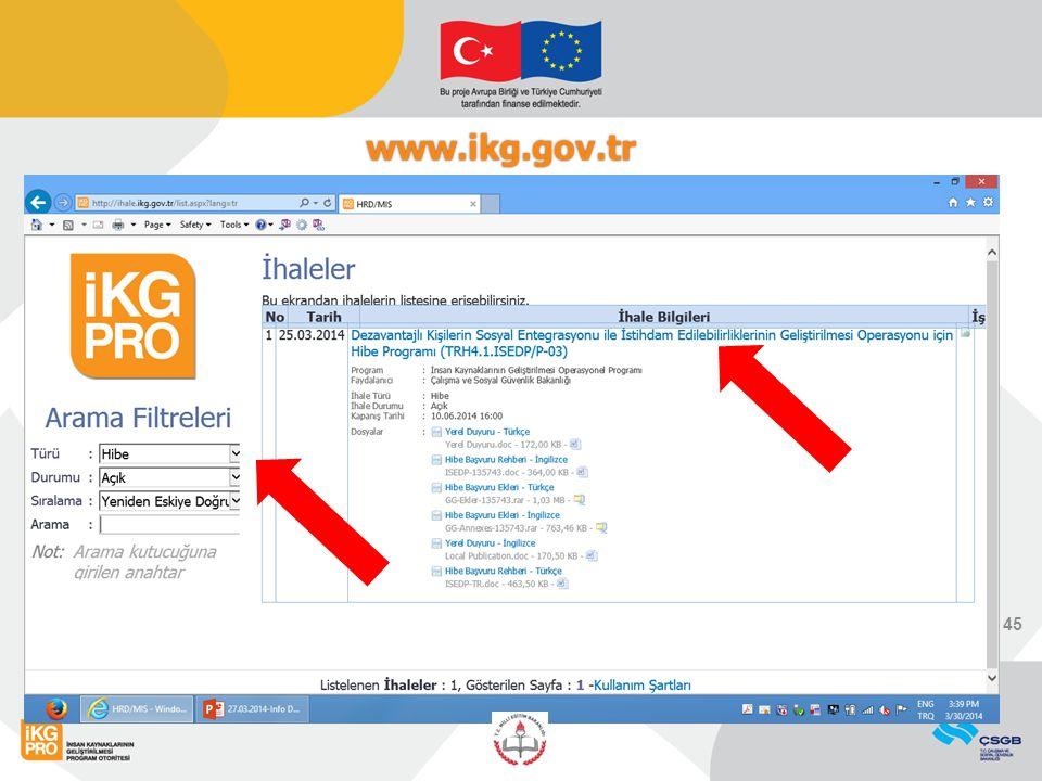 www.ikg.gov.tr 45