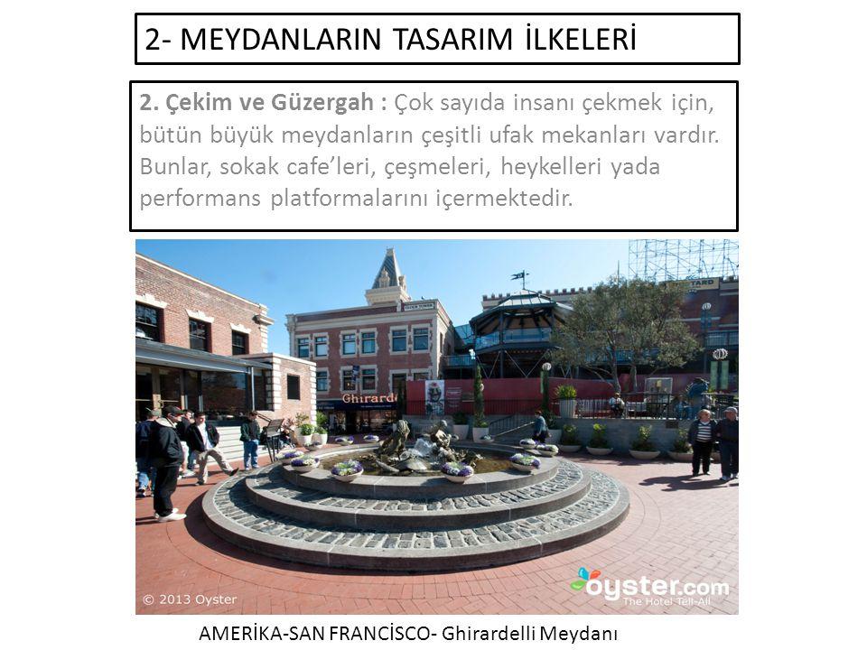 2- MEYDANLARIN TASARIM İLKELERİ 2.