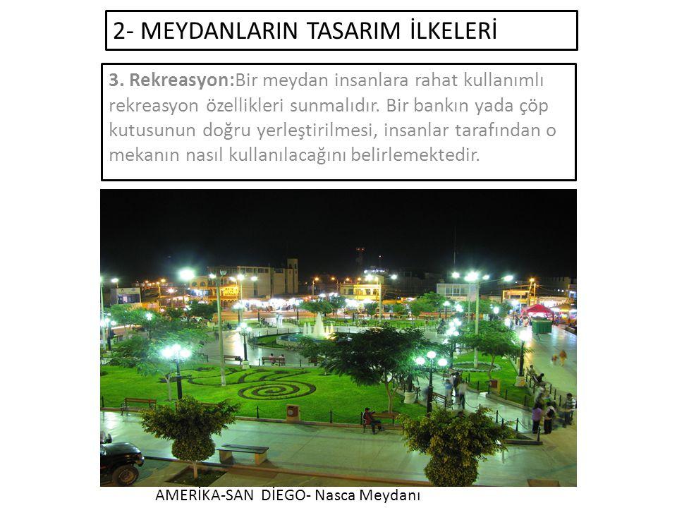 2- MEYDANLARIN TASARIM İLKELERİ 3.
