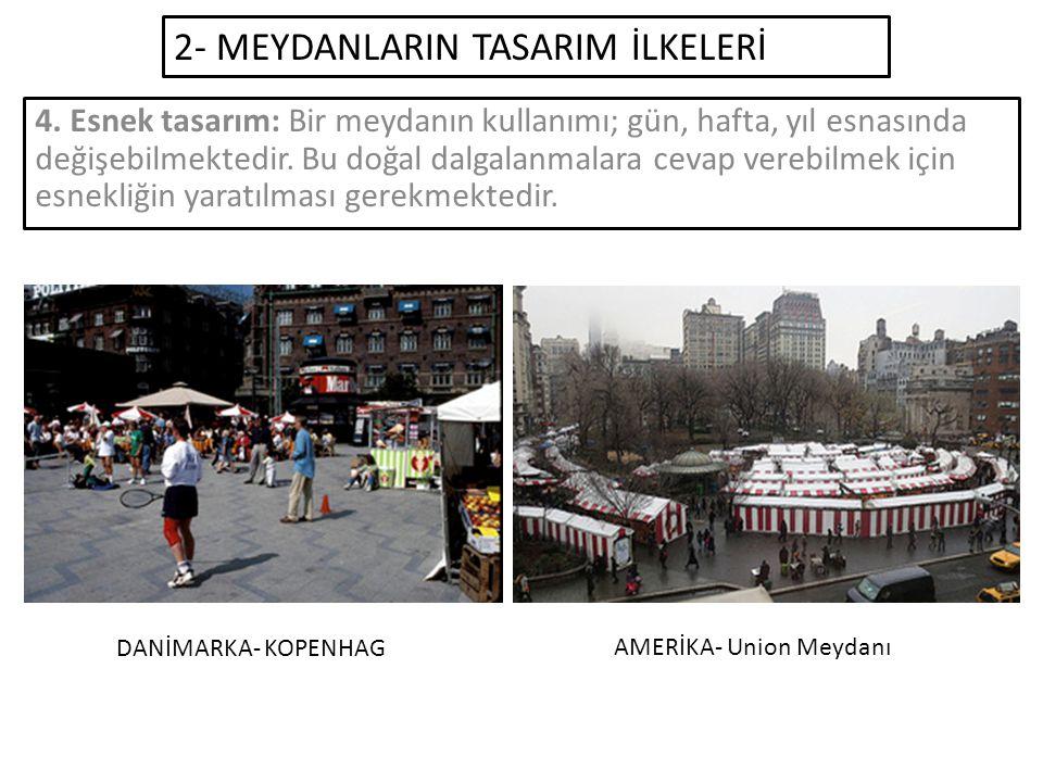 2- MEYDANLARIN TASARIM İLKELERİ 4.