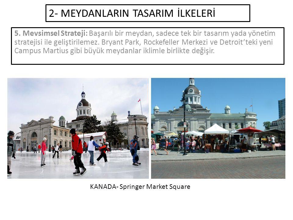 2- MEYDANLARIN TASARIM İLKELERİ 5.