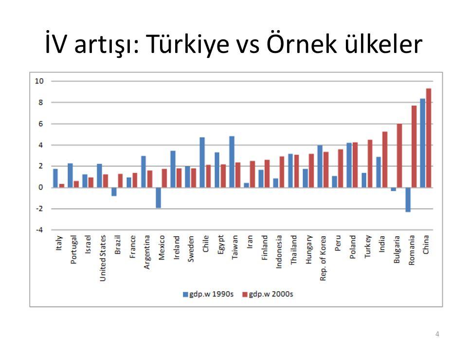 İV artışı: Türkiye vs Örnek ülkeler 4