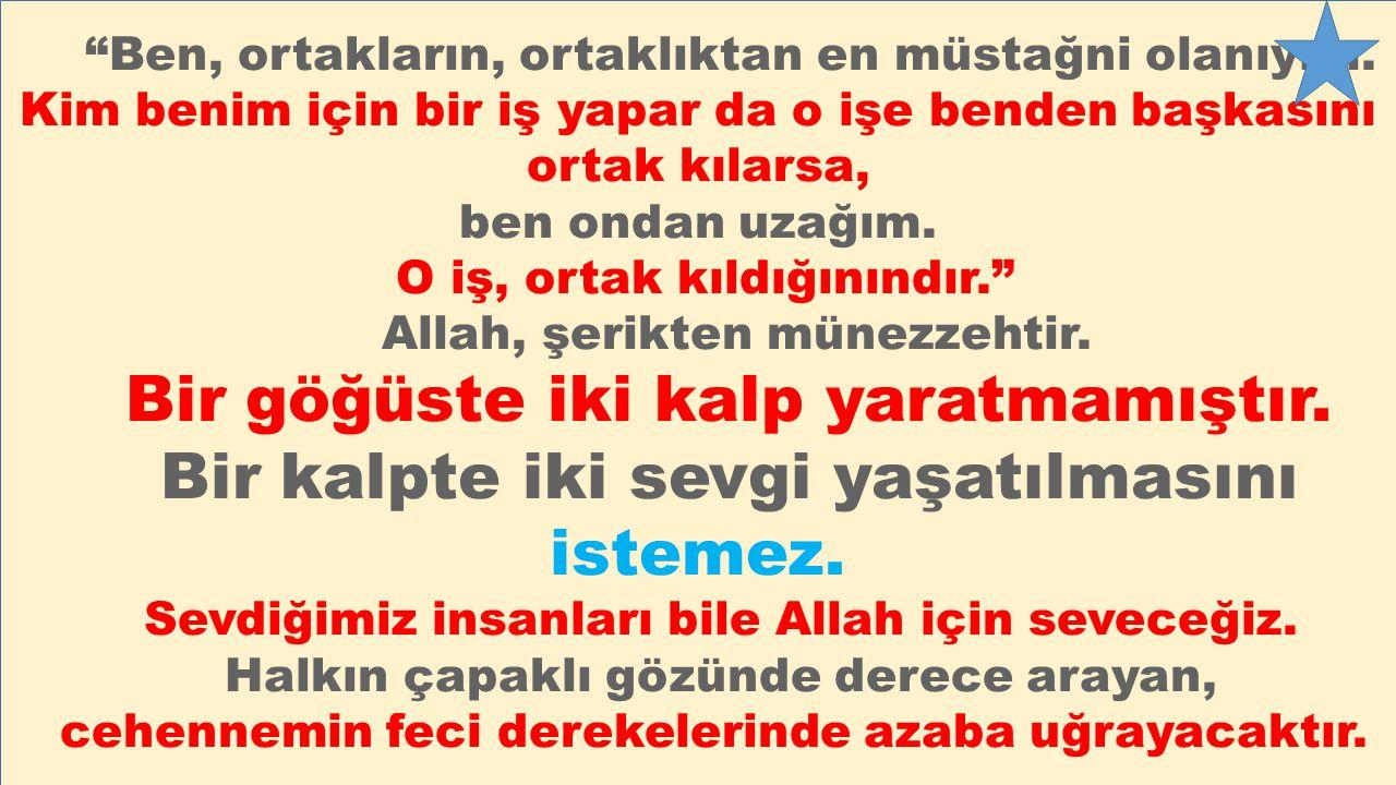 Hz Peygamber (SAV) şöyle buyuruyor: Cübbül hüzünden Allah'a sığınınız. Ashap sordu: Ey Allah'ın Rasülü.