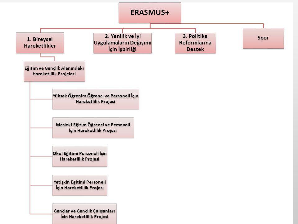 ERASMUS+ 1. Bireysel Hareketlikler Eğitim ve Gençlik Alanındaki Hareketlilik Projeleri Yüksek Öğrenim Öğrenci ve Personeli İçin Hareketlilik Projesi M