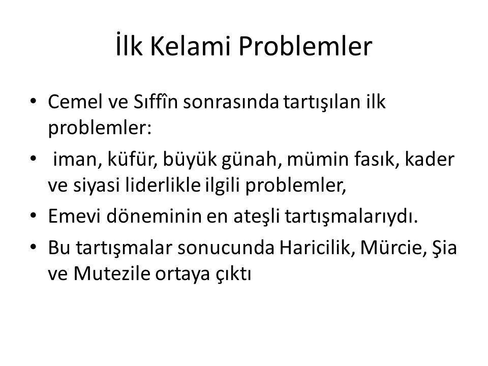 Emeviler Dönemi İlk Kelami Metinler Harici Nafi b.