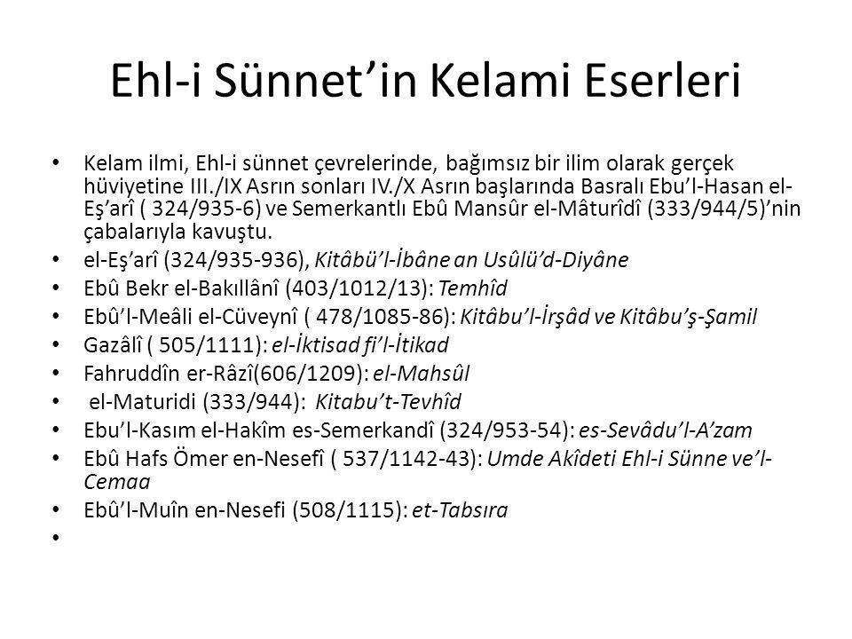 Ebu Hanife Fıkhu'l-Ekber İslâm İnanç Esasları El Kitabı, ed.