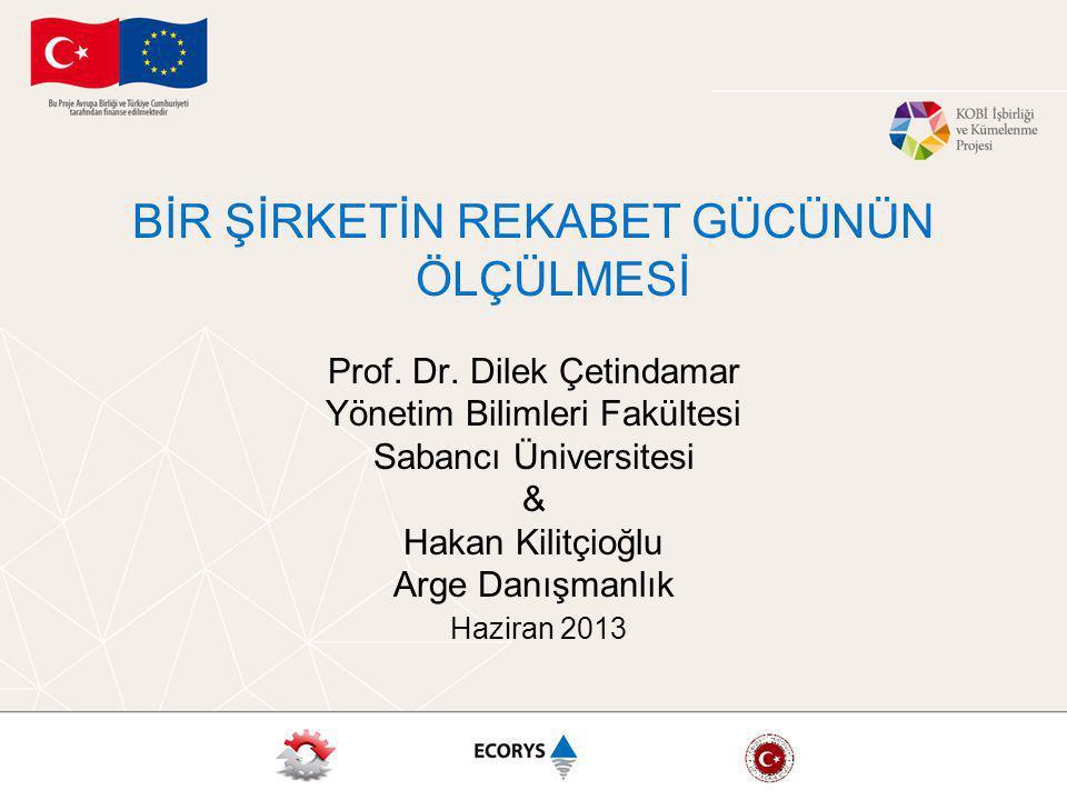 BİR ŞİRKETİN REKABET GÜCÜNÜN ÖLÇÜLMESİ Prof.Dr.