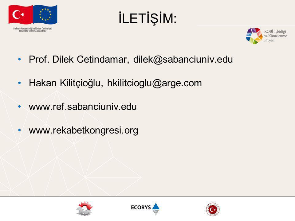 İLETİŞİM: Prof. Dilek Cetindamar, dilek@sabanciuniv.edu Hakan Kilitçioğlu, hkilitcioglu@arge.com www.ref.sabanciuniv.edu www.rekabetkongresi.org