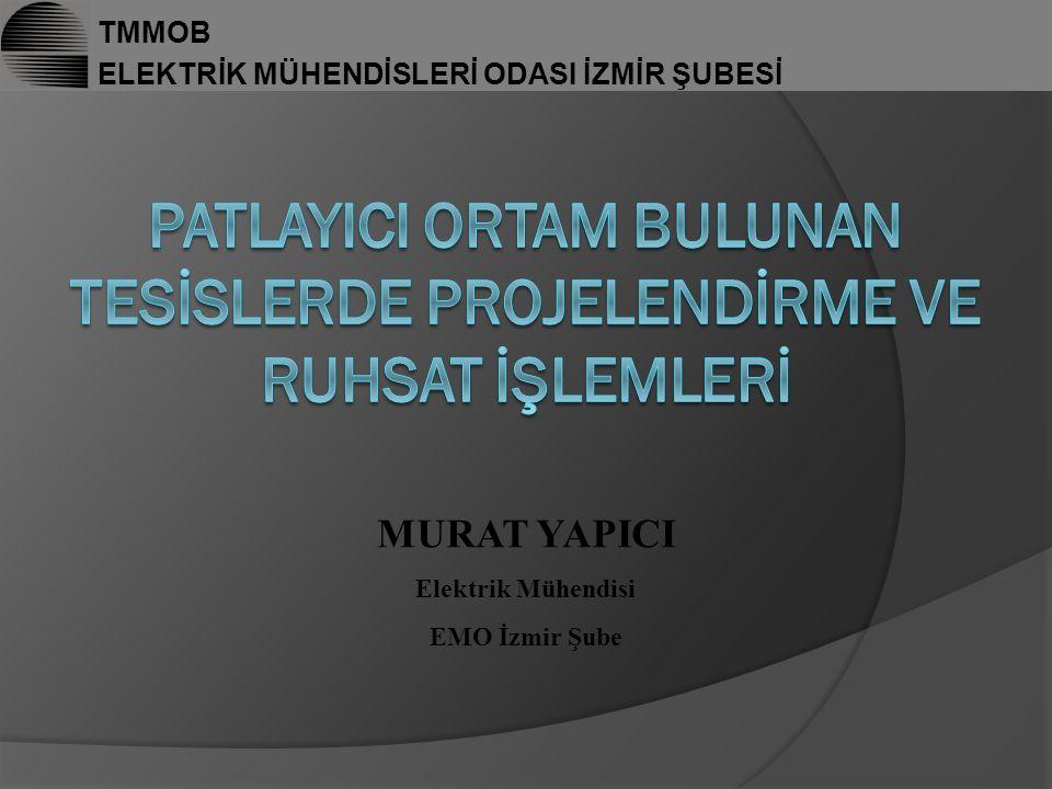 TMMOB ELEKTRİK MÜHENDİSLERİ ODASI İZMİR ŞUBESİ MURAT YAPICI Elektrik Mühendisi EMO İzmir Şube
