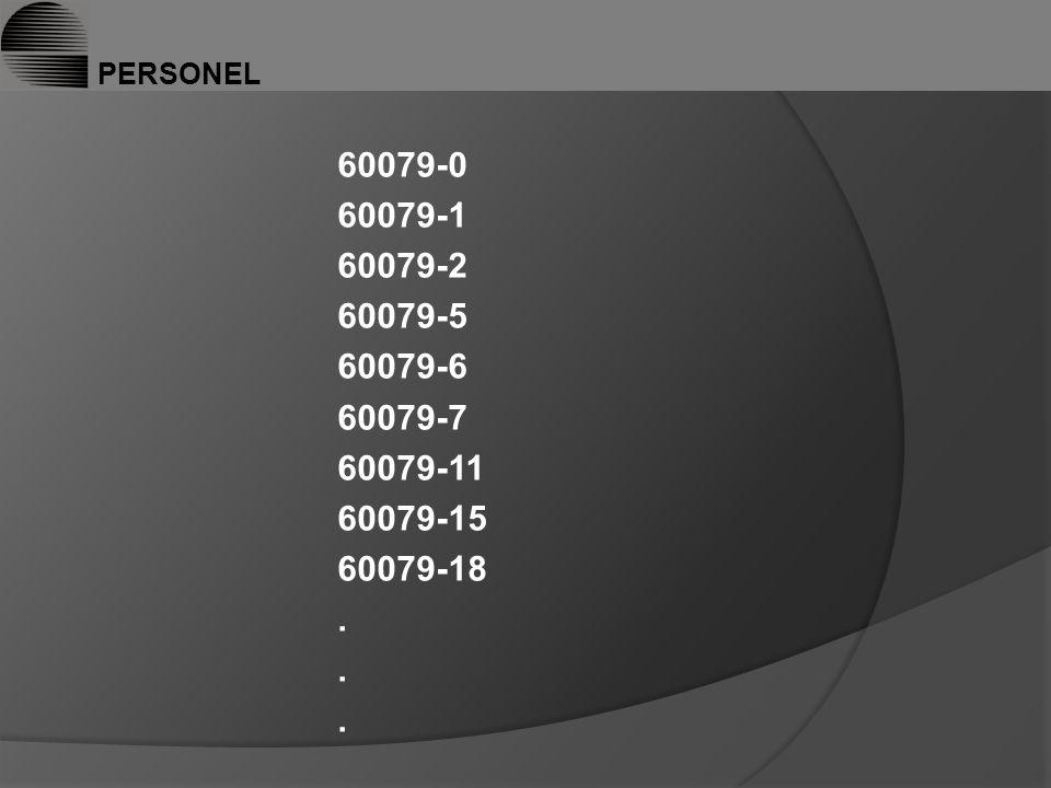 PERSONEL 60079-0 60079-1 60079-2 60079-5 60079-6 60079-7 60079-11 60079-15 60079-18.