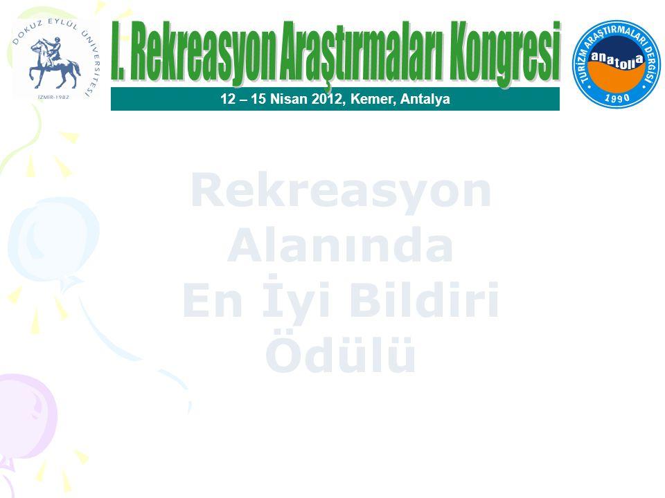 Rekreasyon Ödülleri Seçici Kurul Üyeleri Prof.Dr.