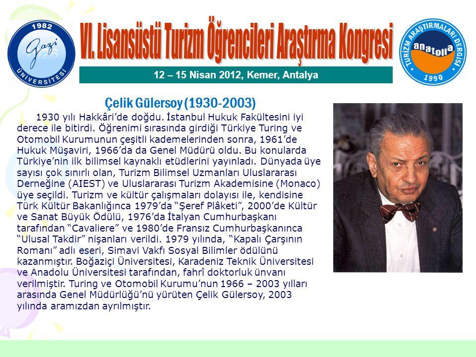 Çelik Gülersoy Özel Ödülü Seçici Kurul Üyeleri Prof.