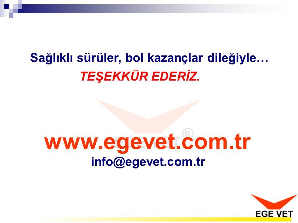 www.egevet.com.tr info@egevet.com.tr Sağlıklı sürüler, bol kazançlar dileğiyle… TEŞEKKÜR EDERİZ.