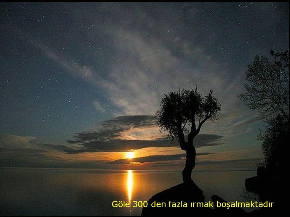 Göle 300 den fazla ırmak boşalmaktadır