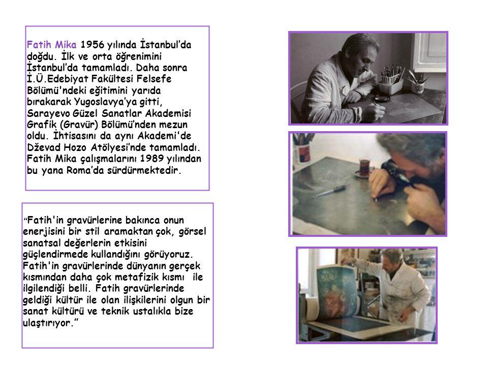 Fatih Mika 1956 yılında İstanbul'da doğdu. İlk ve orta öğrenimini İstanbul'da tamamladı. Daha sonra İ.Ü.Edebiyat Fakültesi Felsefe Bölümü'ndeki eğitim