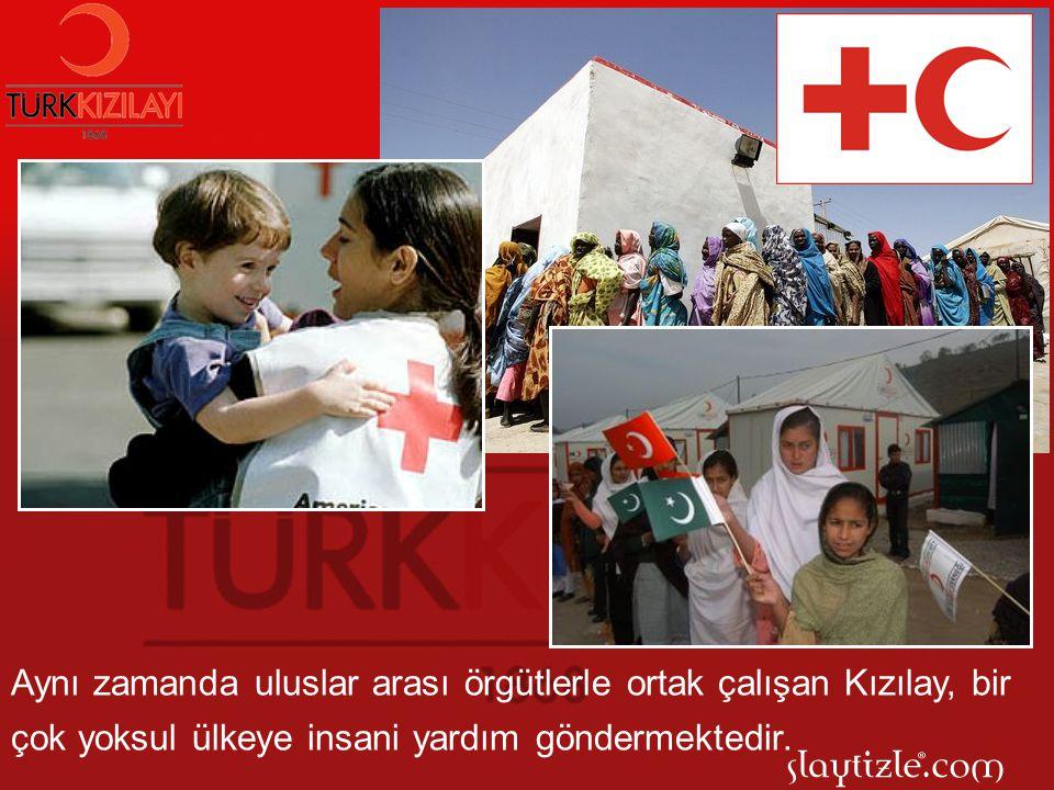 Ülkemizin yoksul vatandaşlarına çeşitli dönemlerde gıda, giyim ve eğitim araçları konusunda Kızılay'ın yardımları olmaktadır.