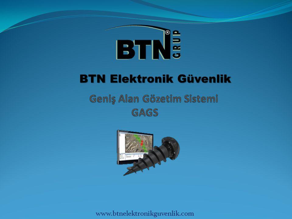 GAGS GAGS (Geniş Alan Gözetim Sistemi), 20 standart sensör düğümü, 1 ana düğüm (iletişim ağ geçidi) ile bir akış gözetim ve entegrasyon merkezinden oluşan tam bir gözetimsiz zemin sensörü (GZS) setidir.