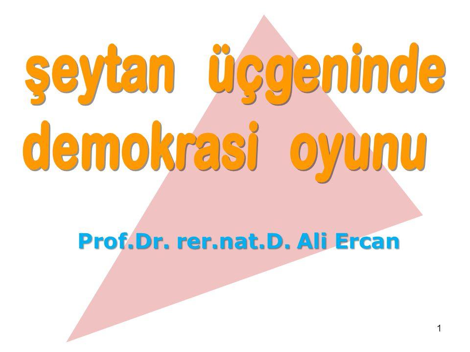 1 Prof.Dr. rer.nat.D. Ali Ercan