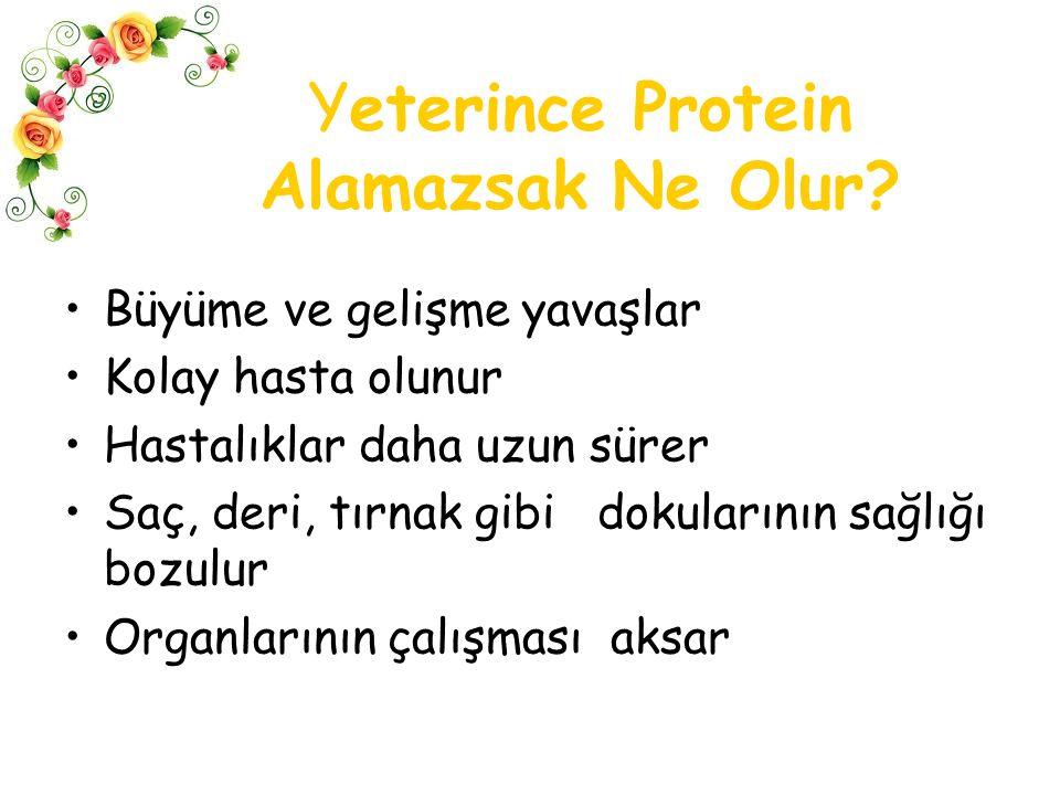 Yeterince Protein Alamazsak Ne Olur.