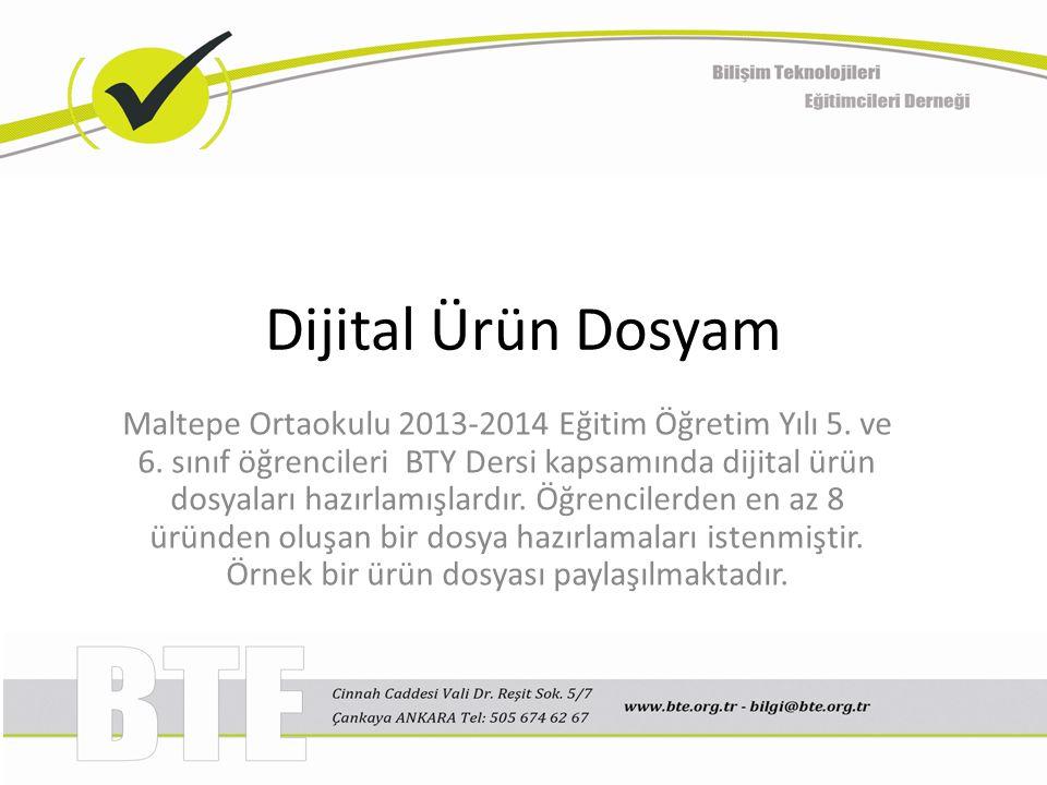 Dijital Ürün Dosyam Maltepe Ortaokulu 2013-2014 Eğitim Öğretim Yılı 5.