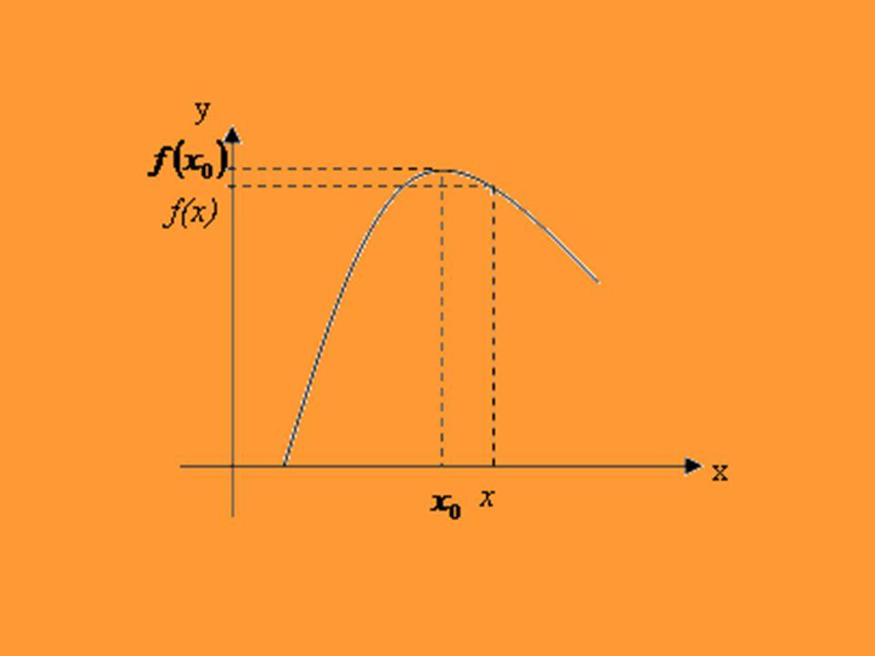 * Eğer her için oluyorsa noktasına f fonksiyonunun bir yerel minimum noktası, f( ) sayısına da bir yerel minimum değeri denir.
