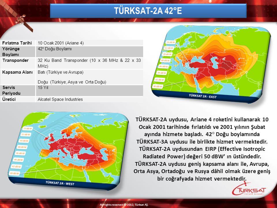 42° Doğu pozisyonunda hizmet veren TÜRKSAT-3A uydusu, 120 Wattlık 24 Ku-band transponder ile donatılmış ve 1296 MHz toplam kullanım kapasitesine sahiptir.