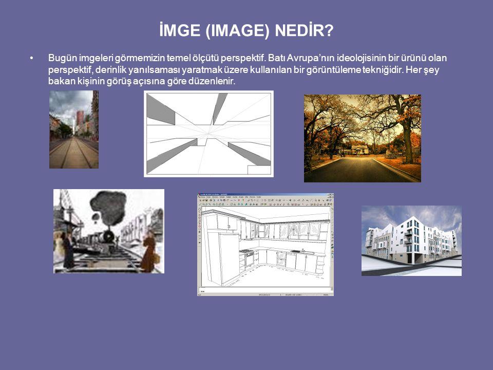 İMGE (IMAGE) NEDİR.Perspektif tek gözü, görünen nesneler dünyasının merkezi yapar.