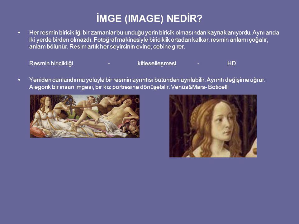 İMGE (IMAGE) NEDİR? Her resmin biricikliği bir zamanlar bulunduğu yerin biricik olmasından kaynaklanıyordu. Aynı anda iki yerde birden olmazdı. Fotoğr