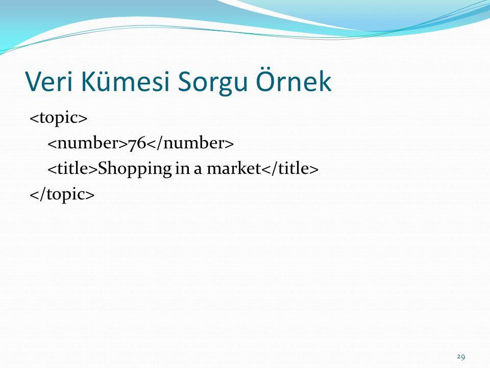 Veri Kümesi Sorgu Örnek 76 Shopping in a market 29