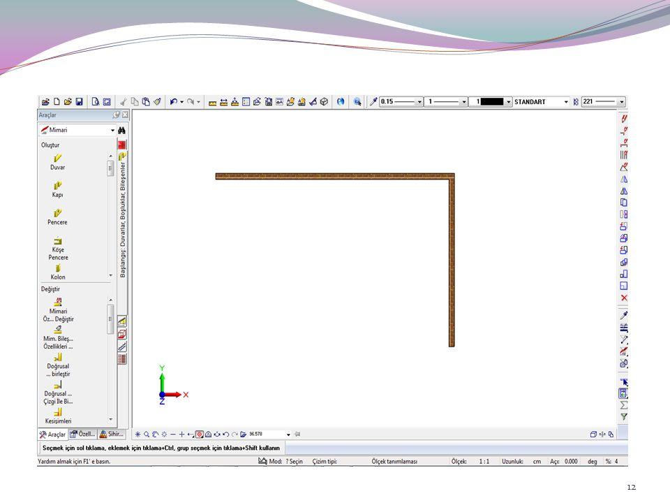 Allplan'da, çizdiğiniz elemanları, farklı çizim ölçeklerinde, o ölçeğe uygun detay ve görünüm elemanları içerecek şekilde ekrana getirilebilirsiniz. T