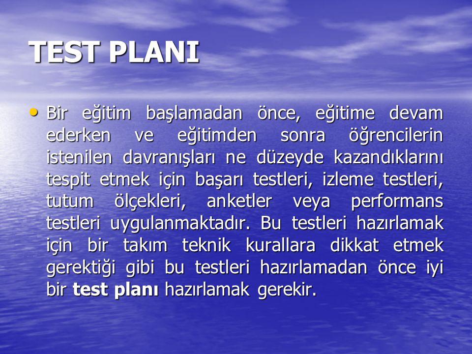 ÇOKTAN SEÇMELİ BİR TEST NASIL HAZIRLANIR.