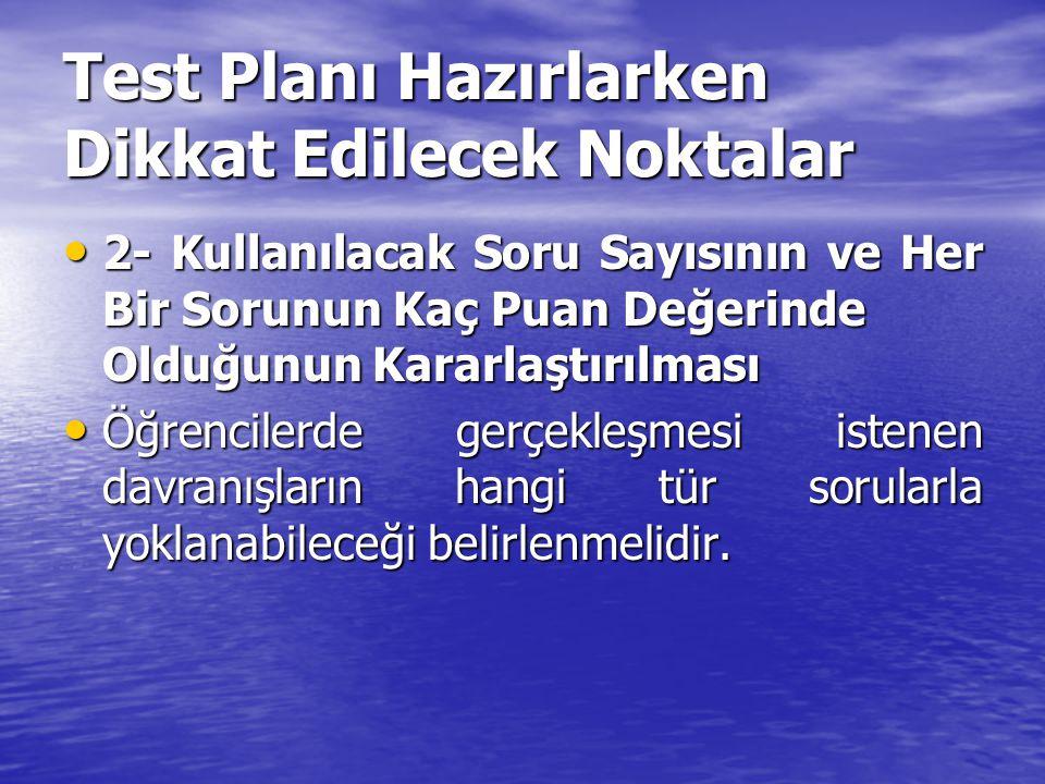 HATIRLATMA TİPİ TESTLER NASIL HAZIRLANIR.