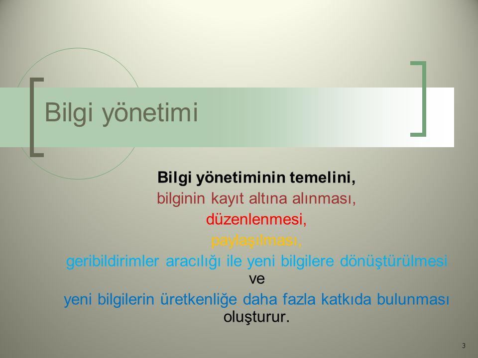 Veriden Bilgiye 4 XIII. Türkiye de İnternet Konferansı