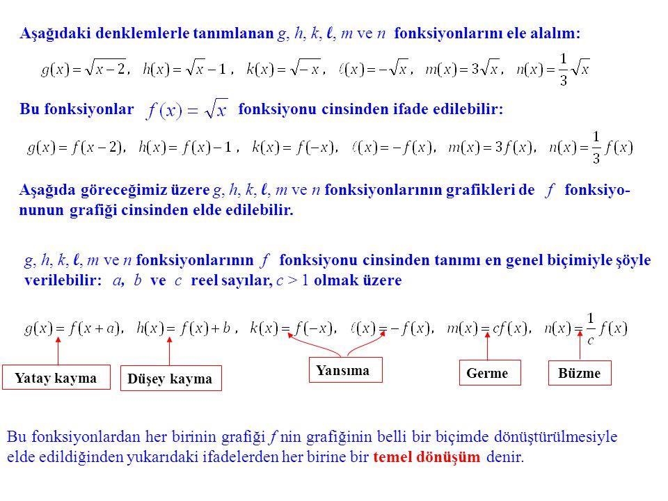 Aşağıdaki denklemlerle tanımlanan g, g, h, k, l, l, m ve n fonksiyonlarını ele alalım: Aşağıda göreceğimiz üzere g, g, h, k, l, l, m ve n fonksiyonlar