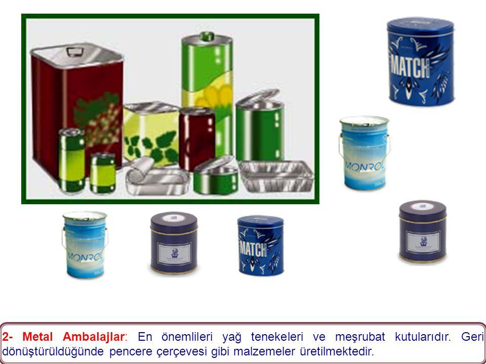 1- Cam Ambalajlar: En sağlıklı ambalaj çeşidi olup, geri dönüşüm oranı en yüksek olanıdır.