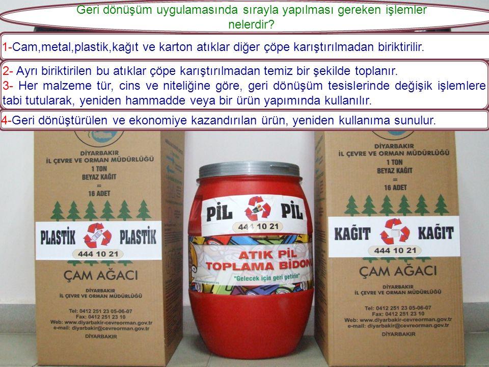 4- Kağıt-Karton Ambalajlar: En önemli kısmı gazete kağıtları, süt ve meyve suyu kutuları oluşturmaktadır. Geri dönüştürülmesi sonucunda; önemli ölçü d