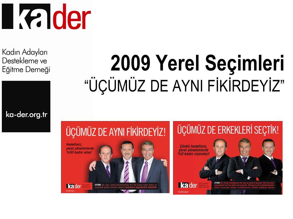 """2009 Yerel Seçimleri """"ÜÇÜMÜZ DE AYNI FİKİRDEYİZ"""""""