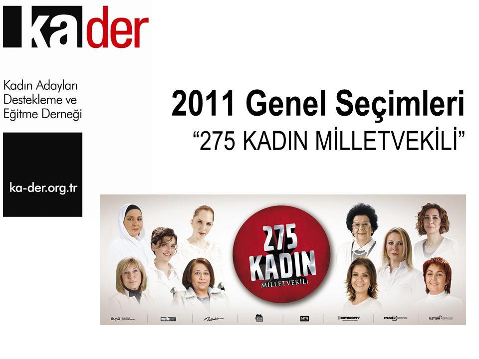 "2011 Genel Seçimleri ""275 KADIN MİLLETVEKİLİ"""