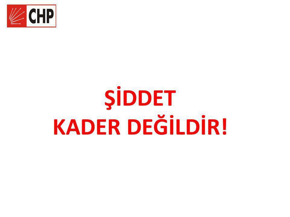 ŞİDDET KADER DEĞİLDİR!