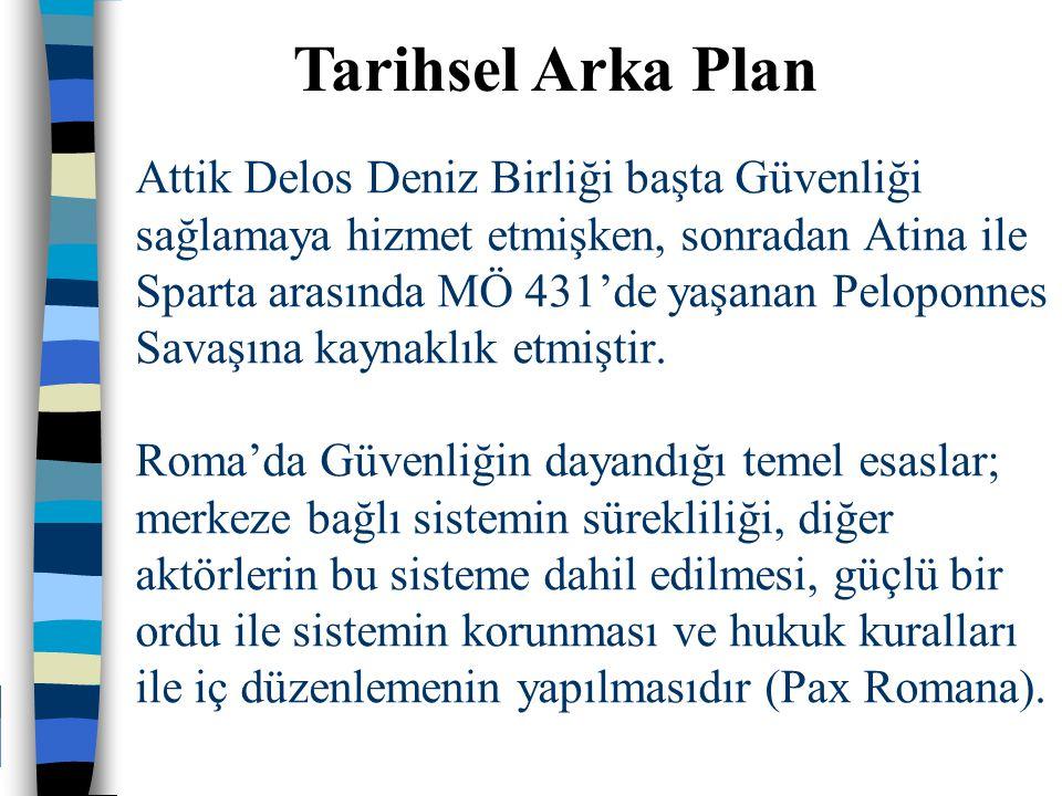 Attik Delos Deniz Birliği başta Güvenliği sağlamaya hizmet etmişken, sonradan Atina ile Sparta arasında MÖ 431'de yaşanan Peloponnes Savaşına kaynaklık etmiştir.