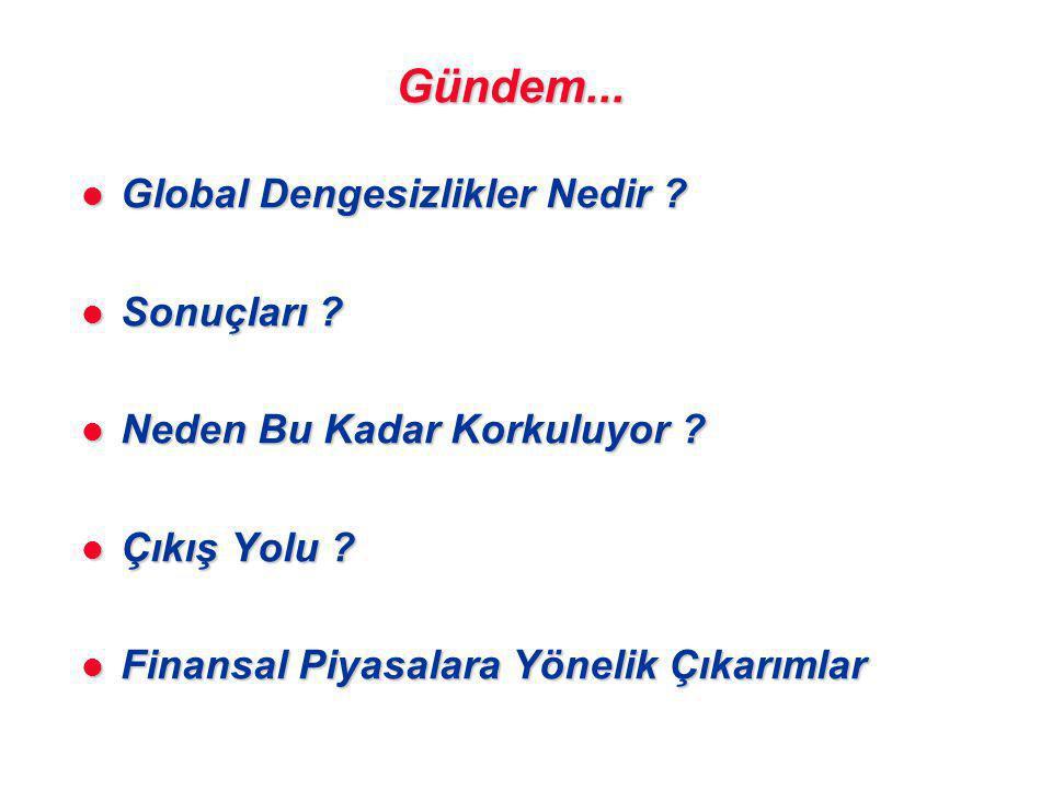 Gündem...l Global Dengesizlikler Nedir . l Sonuçları .
