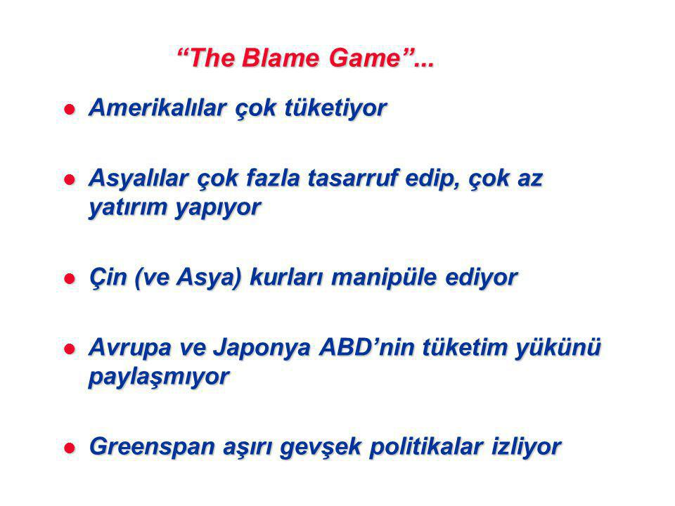 The Blame Game ...