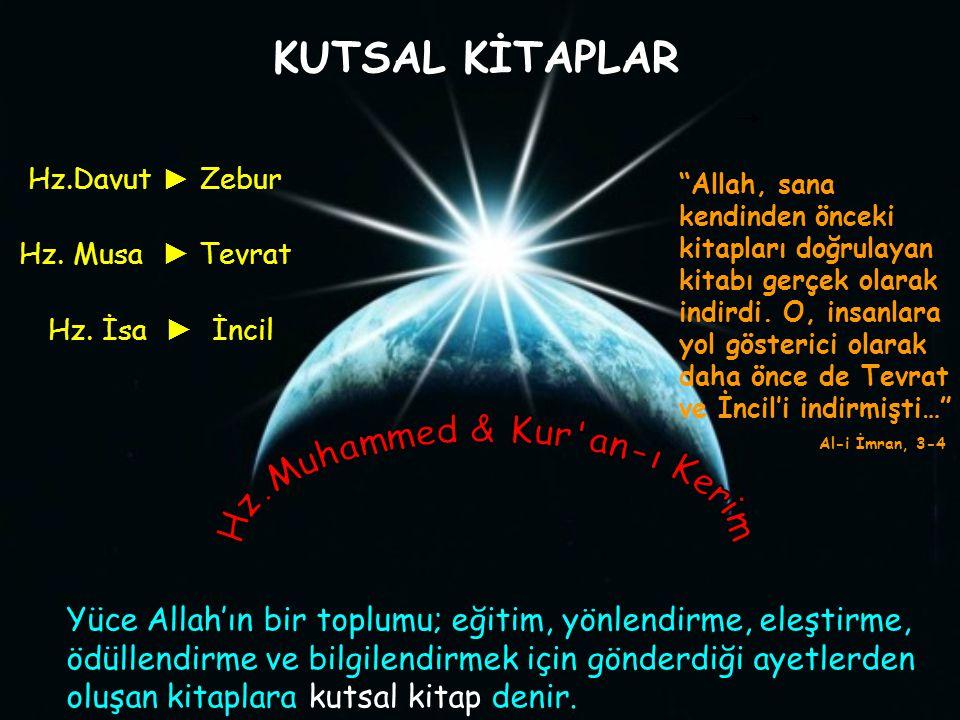 Kur'an-ı Kerim'de Allah'ın emir ve yasakları, geçmiş peygamberlerden kıssalar ve ahlak kaideleri yer alır.